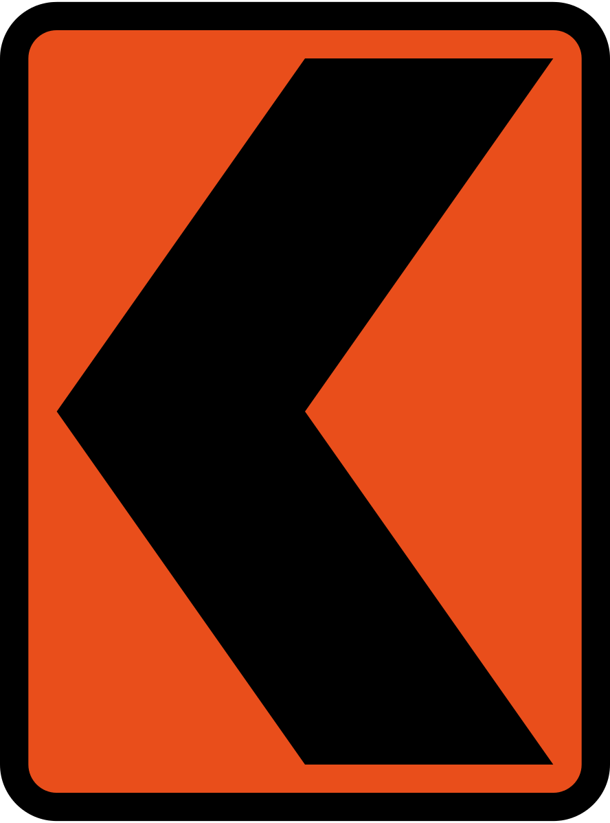 Curve Alignment Marker (Bend to direction indicated)