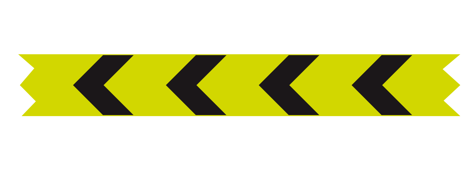Extended curve alignment marker : 'Waveline' (Bend to left; right if chevrons are reversed)