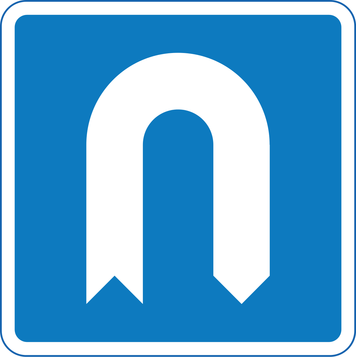 Indication of a U-turn lane, on the lane closest to the road divider or carriageway