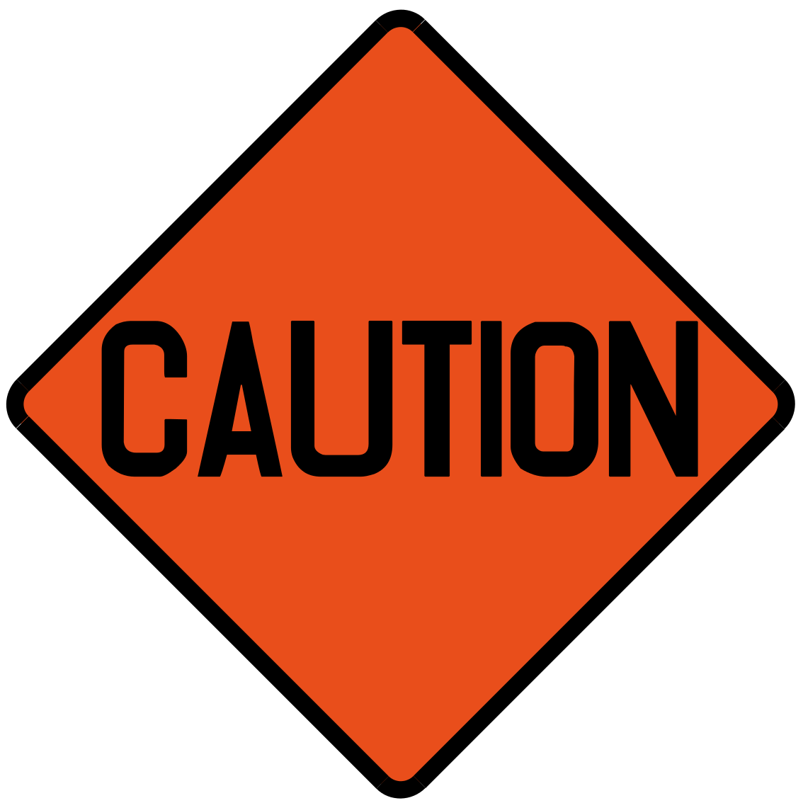 Indication of road stretch affected by road works