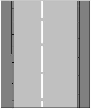 Keep left of the divider