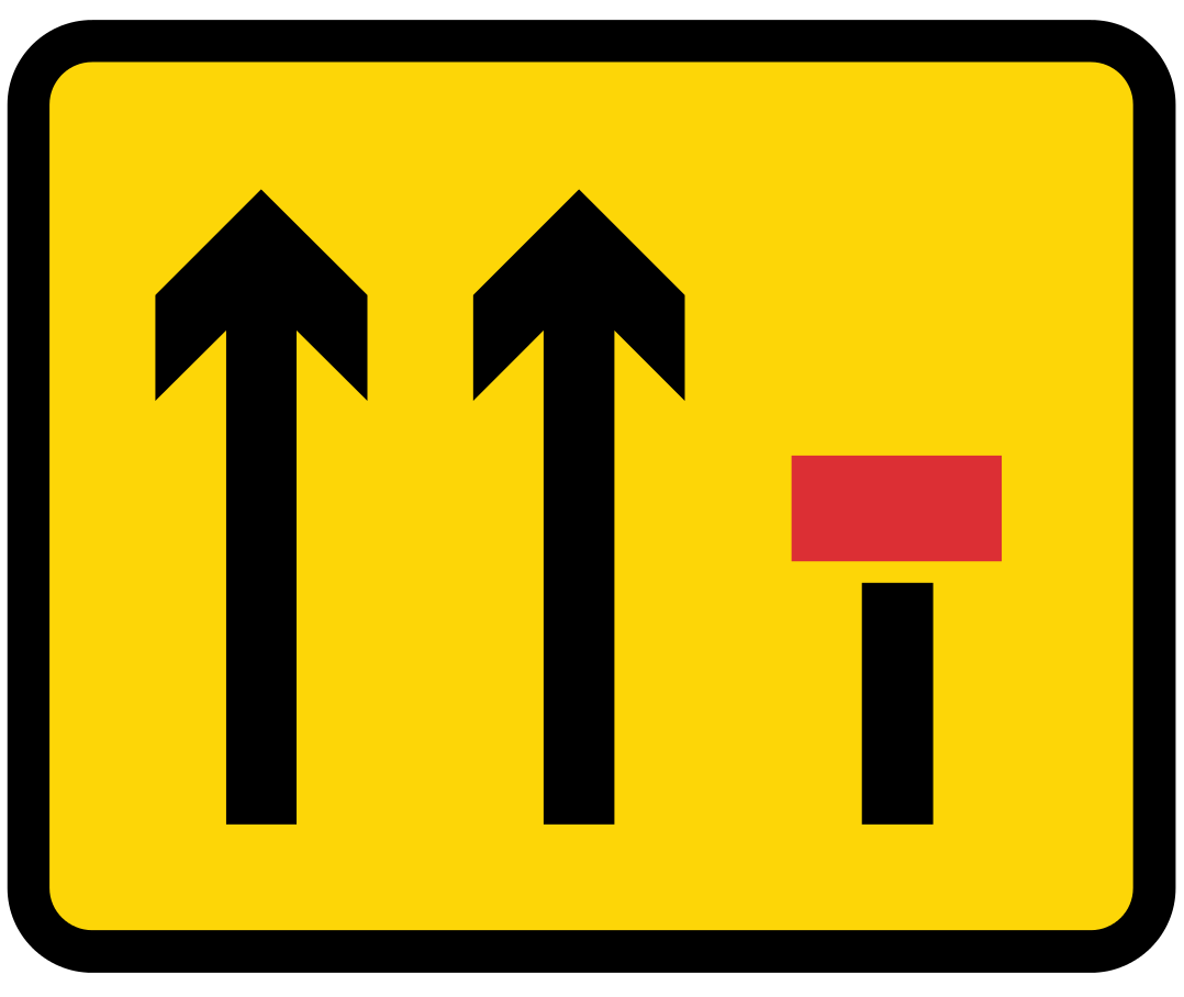 Layout of lanes ahead