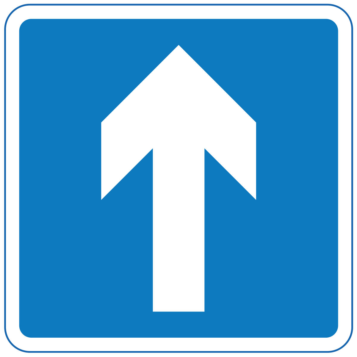 One way traffic ahead (Turning left and right is permitted)