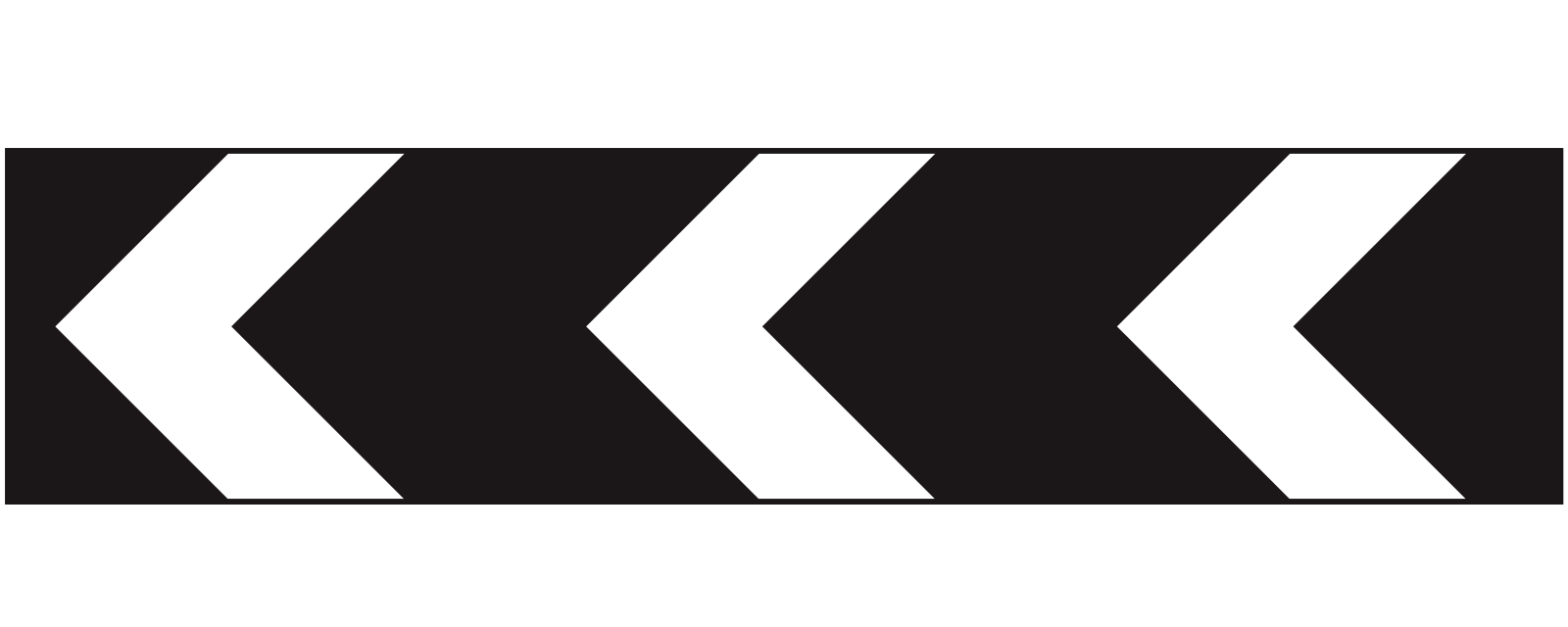 Sharp deviation to the left (right if chevrons are reversed) Road