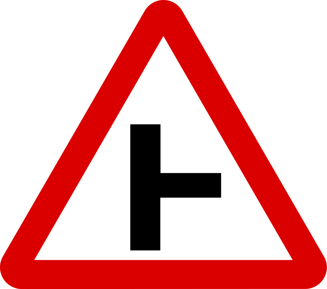 Side road on right