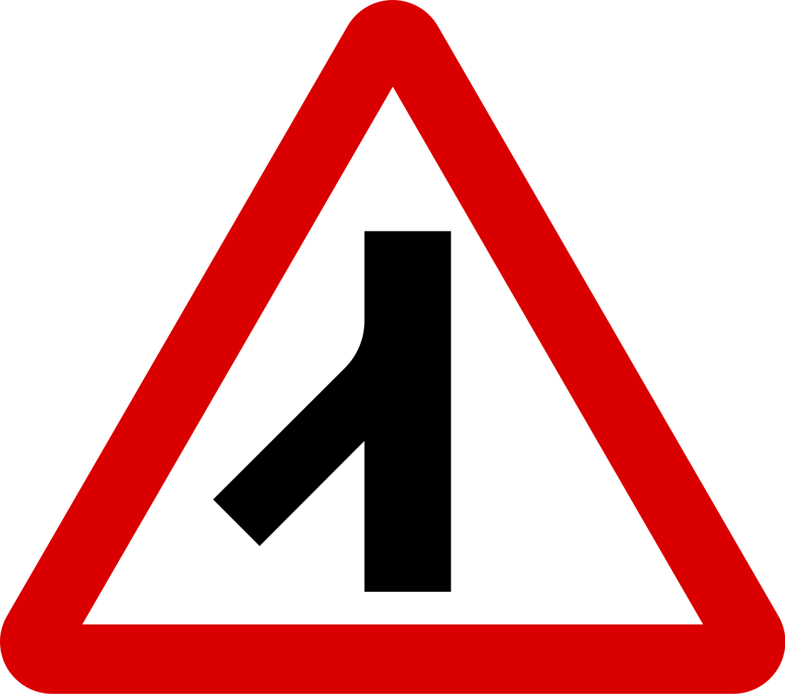 Traffic merging from left behind
